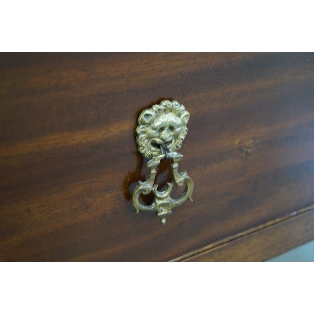 Antique Mahogany Regency Style 3 Drawer Nightstand - Image 8 of 10