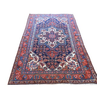 Old Persian Bakhtiari Rug - 4′4″ × 6′6″