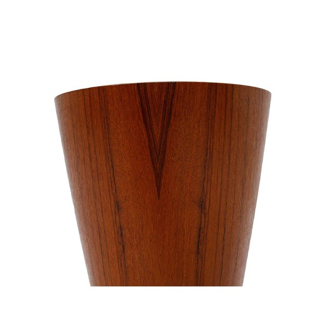 Small Danish Modern Teak Waste Basket - Image 4 of 4