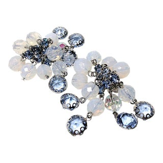 Carnegie Blue Cascading Earrings