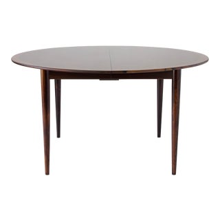 Rosewood Round Dining Table by Grete Jalk for P. Jeppesen