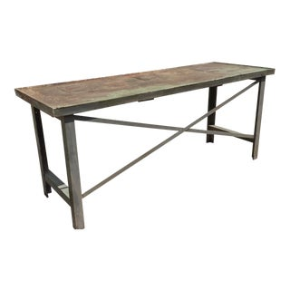 Vintage Industrial Work Table