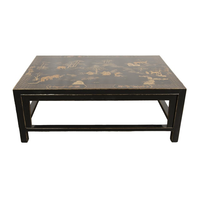 Black Chinoiserie Coffee Table Chairish