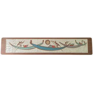 Mid-Century Gondoliers Art Plaque
