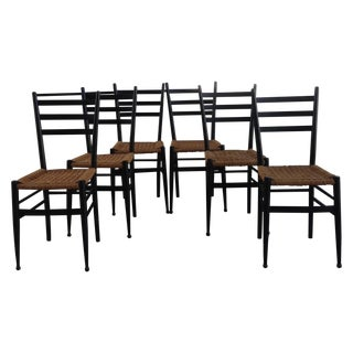 1970's Gio Ponti Bistro Chairs - Set of 6