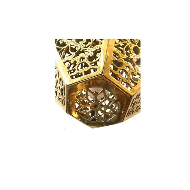 Image of Vintage Pierced Brass Pendant