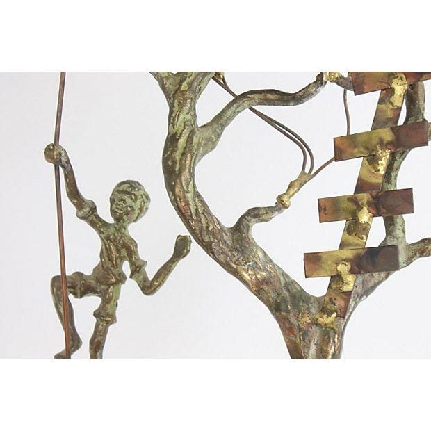 Copper Brutalist Treehouse Sculpture - Image 4 of 6