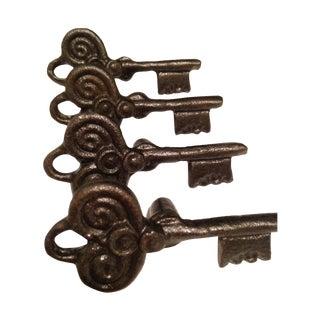 Key Metal Knobs - Set of 10