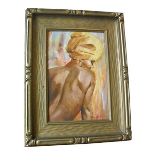 Vintage Oil Painting of a Creole Woman