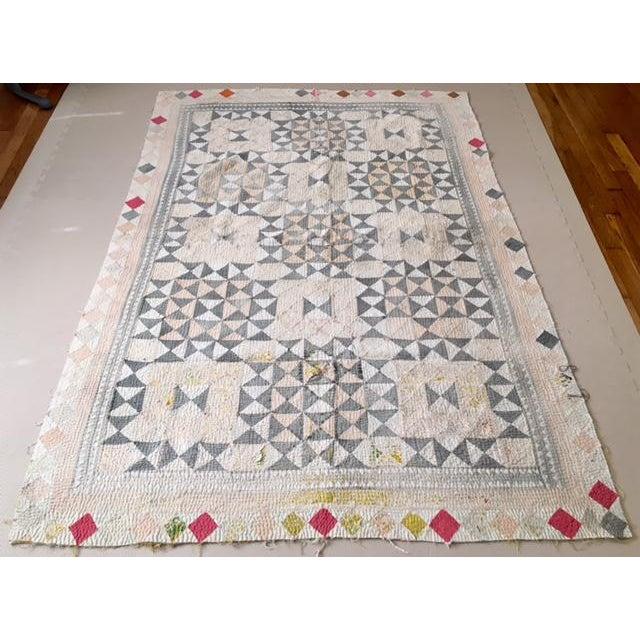 Vintage Handmade Ralli Quilt - Image 2 of 11