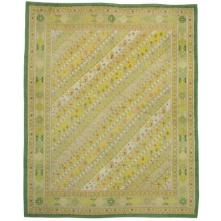 "Vintage Spanish Modern Art Deco Style Carpet - 12'1"" x 14'11"""