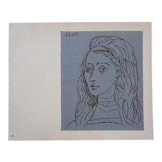 """Vintage Picasso Lithograph-""""Jacqueline"""""""