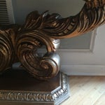 Image of Marble Pedestal Console Table