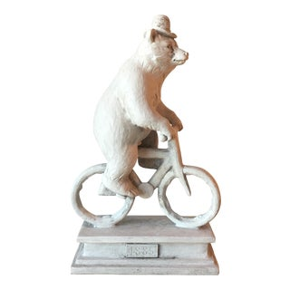 Bear on Vintage Bike Statue