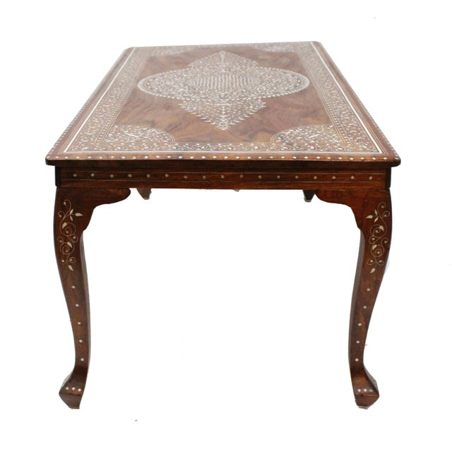 Vintage Bone Inlay Coffee Table - Image 3 of 8