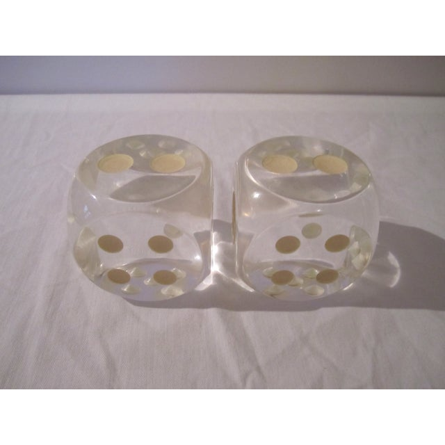 Vintage Lucite Dice - A Pair - Image 4 of 5