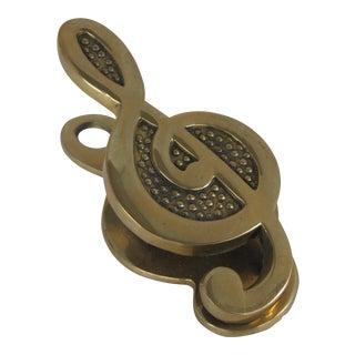 Brass Treble Clef Paper Clip