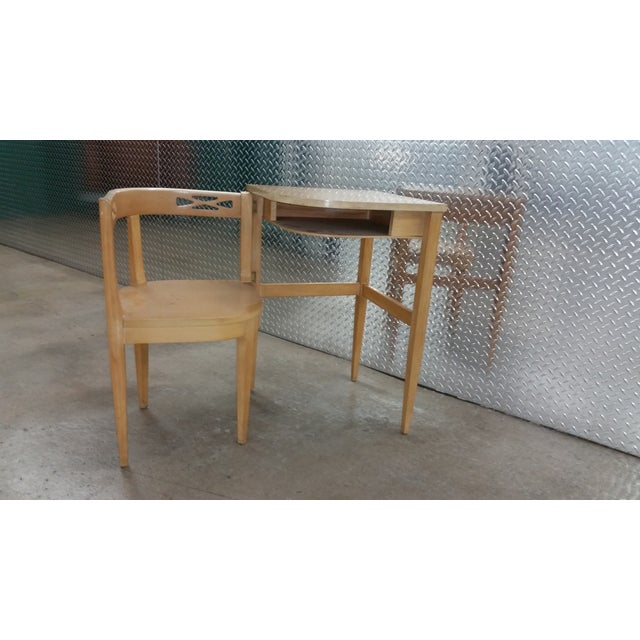 Vintage Superior Swing Out Chair & Telephone Desk - Image 2 of 6