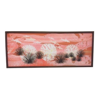 Mid-Century Painting Coral Reef Sea Urchin Fish
