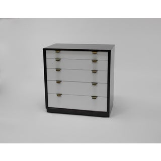 Pair of Dressers in Walnut and White Lacquer by Edward Wormley