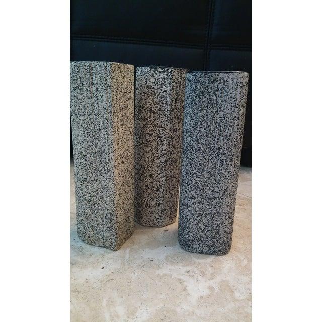 MCM Black & White Splatter Vases - Set of 3 - Image 3 of 4
