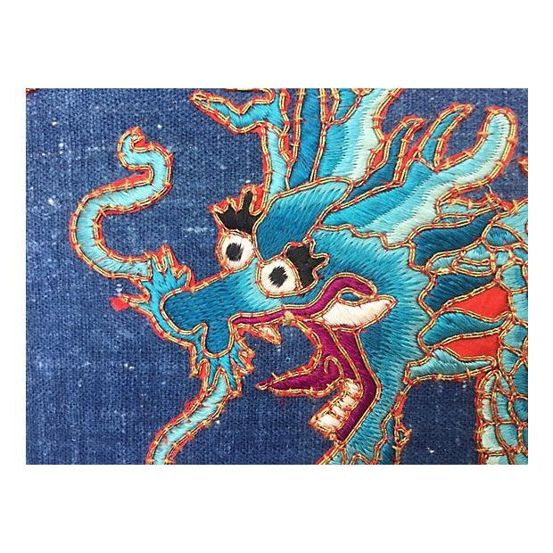 Chinese Opera Embroidered Dragon Pillow - Image 6 of 7