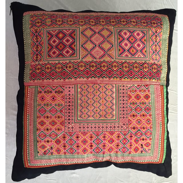 Indian Woven Pillow - Image 2 of 4
