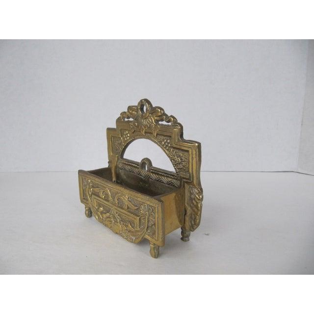 Vintage Brass Business Card Holder - Image 4 of 5