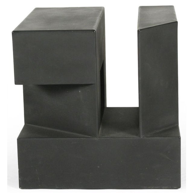 """Black Cube"" Aluminum Sculpture by Alfredo Halegua - Image 2 of 10"
