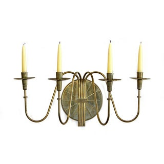 Tommi Parzinger Four-Arm Brass Candle Sconce