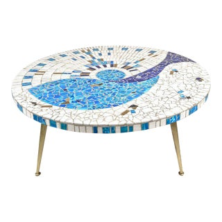 Vintage Tile Top Cocktail Table, USA, 1950s
