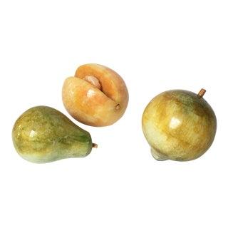 Decorative Marble Fruit - Set of 3