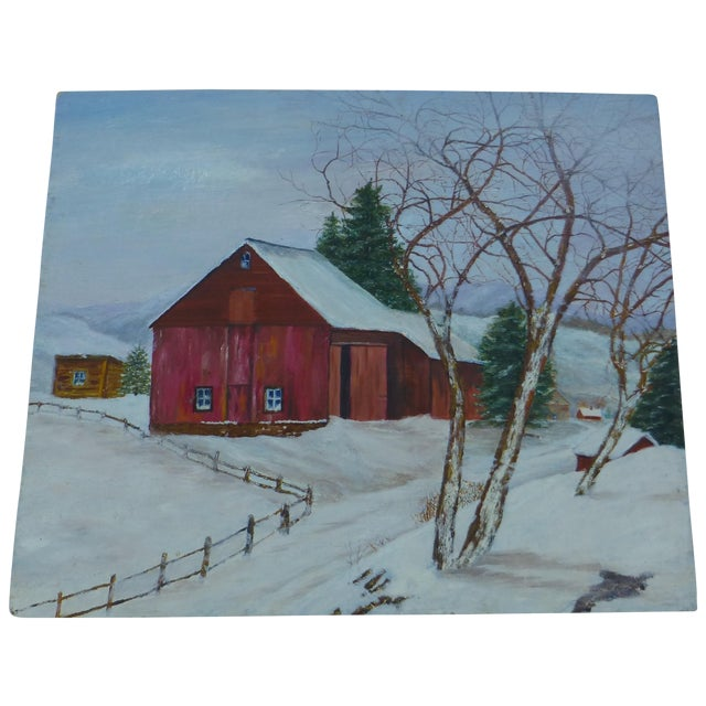 The Old Red Barn Painting by H.L. Musgrave - Image 1 of 6