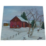 Image of The Old Red Barn Painting by H.L. Musgrave