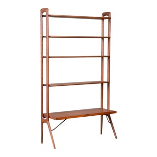 Kurt Ostervig Freestanding Teak & Oak Shelf