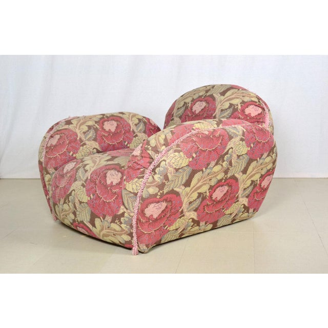 Phyllis Morris Floral Swivel Lounge Chair With Ottoman - Image 4 of 4