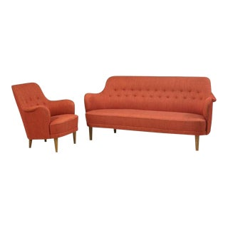 Carl Malmsten Model Samsas Sofa and Chair