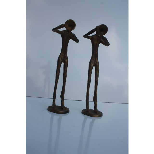 Image of Solid Brass Band Abstract Figures - Set of 3