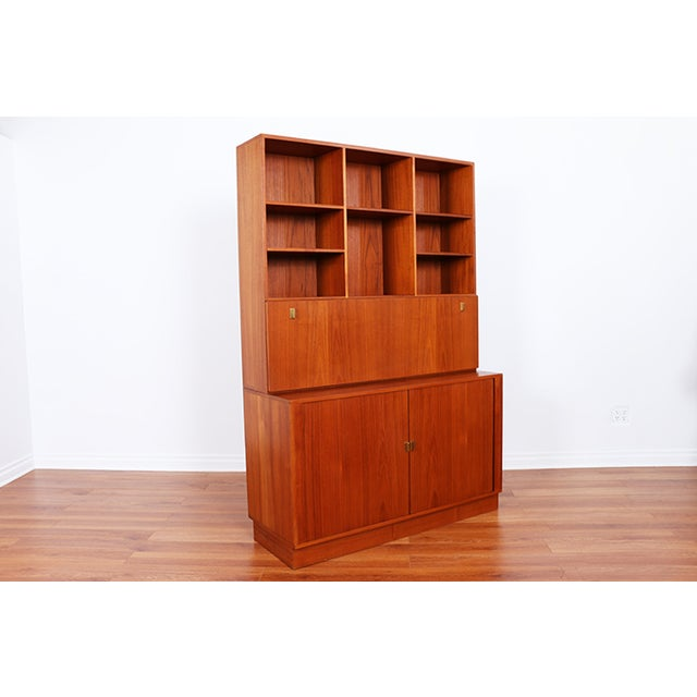 Danish Teak Secretary Tambour Desk by Peter Lovig - Image 4 of 5