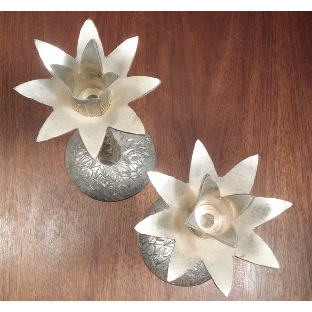 Vintage Brass Pineapple Candle Holders - A Pair - Image 7 of 7