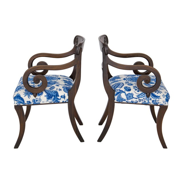 English Regency Carved Armchairs - A Pair - Image 3 of 10
