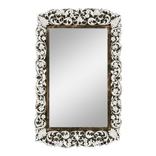 Ornate Rectangular Handcut Glass Mirror