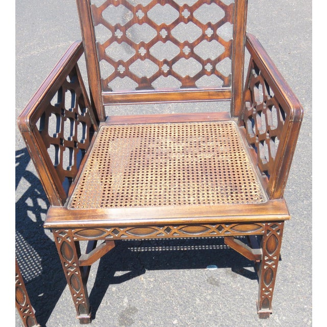 Chippendale Style Caned Chairs - A Pair - Image 4 of 5