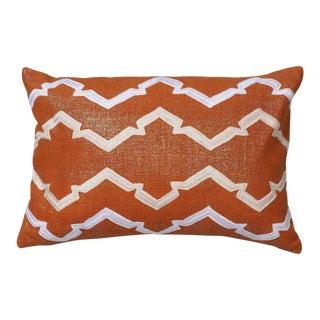 """Piper Collection Lava Metallic Linen """"Finley"""" Pillow"""