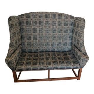 Shaker Gray Upholstered Settee
