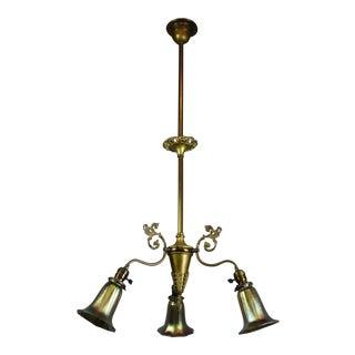 Victorian Brass Light Fixture (3-Light)
