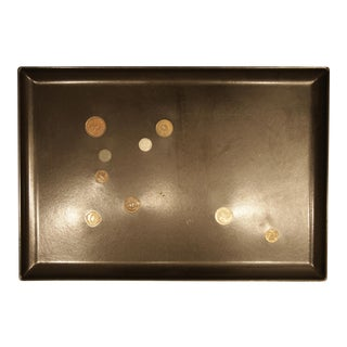 Couroc-Style Tray with Embedded Coins