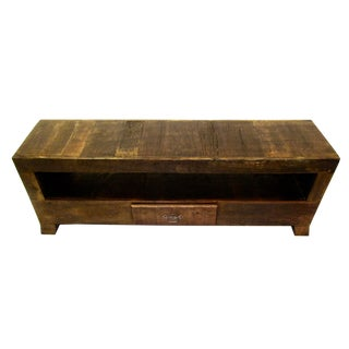 Antique Media Console/Tv Stand Eco-Friendly Reclaimed Solid Wood