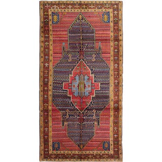 "Vintage Persian Koliai Rug- 4'9"" x 9'4"""