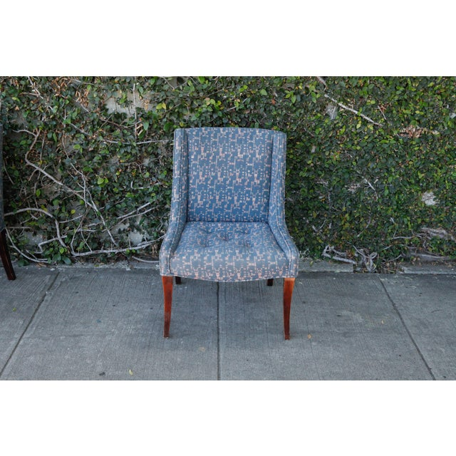 Retro Fabric Side Chairs - A Pair - Image 3 of 9